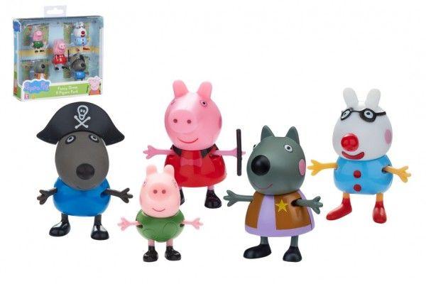 Prasátko Peppa/Peppa Pig plast set 5 figurek