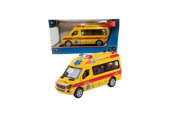 Auto ambulance kov/plast 15 cm - 16x8,5x7 cm