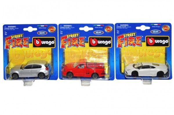 Auto Bburago Street Fire kov/plast 10cm