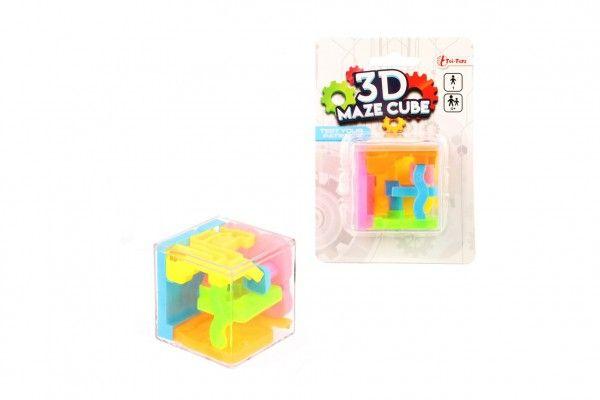 Bludiště/hlavolam 3D kostka na kartě
