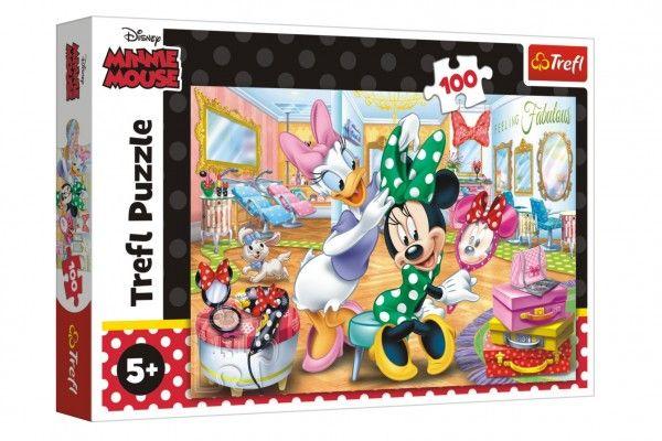 Puzzle Minnie Disney v salónu krásy 100 dílků v krabici