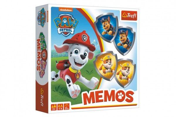 Pexeso papírové Paw Patrol/Tlapková patrola společenská hra 36 kusů v krabici 20x20x5cm