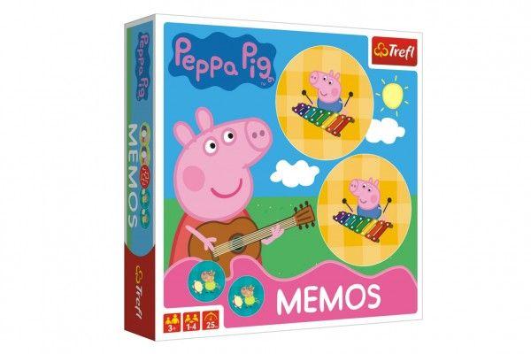Pexeso papírové Prasátko Peppa/Peppa Pig společenská hra 36 kusů v krabici 20x20x5cm