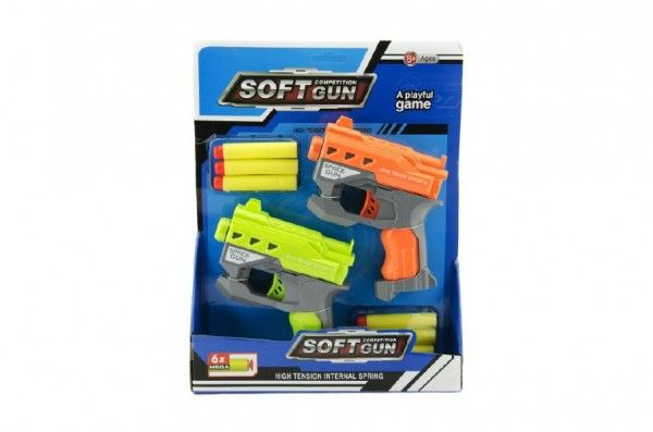 Pistole 2 ks na pěnové náboje + 6 ks nábojů