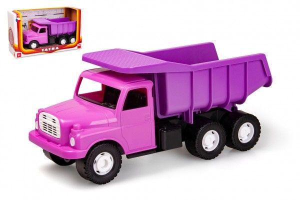 Auto Tatra 148 plast 30cm růžová