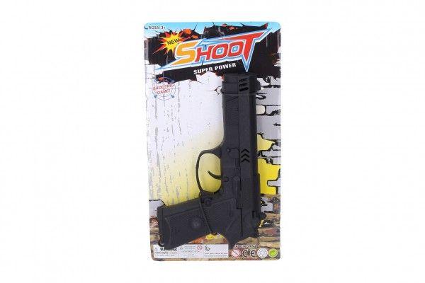 Pistole na setrvačník plast 20cm na kartě