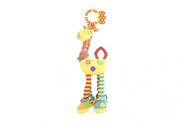 Závěs na postýlku/kočárek žirafa 36cm v sáčku 0+