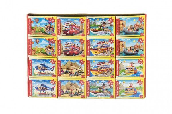 Minipuzzle Dopravní prostředky  54 dílků 16,5x11cm