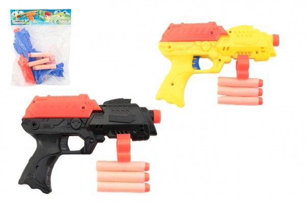 Pistole na pěnové náboje 3ks plast 17cm
