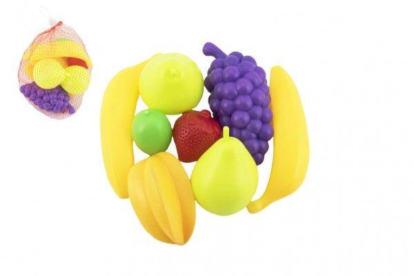 Ovoce 7 ks plast 5-13cm v síťce