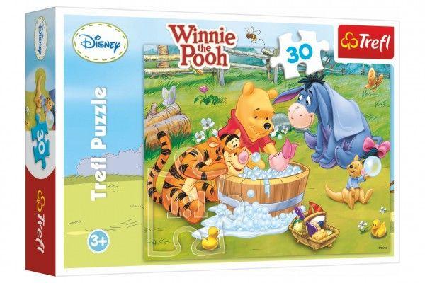 Puzzle Medvídek Pú  Prasátko se koupe 27x20cm