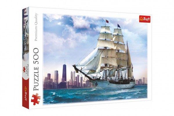 Puzzle Plachtění kolem Chicaga 500 dílků 48x34cm