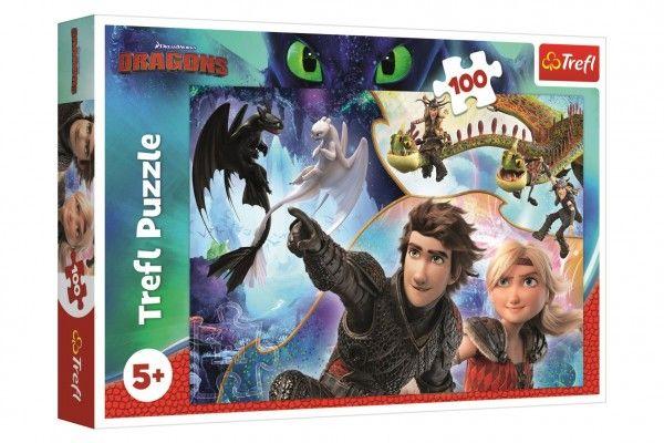 Puzzle Jak vycvičit draka 100 dílků 41x27,5cm v krabici 29x19x4cm