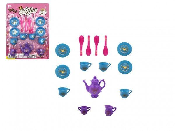 Plastová sada nádobí pro panenky, 15 ks