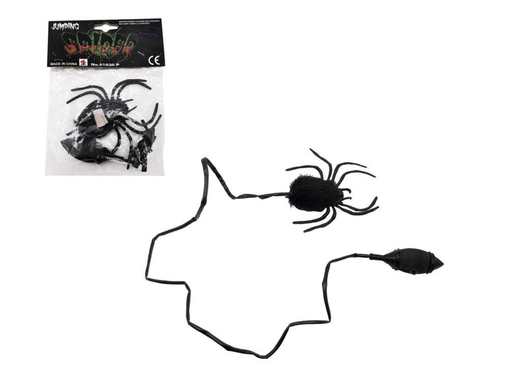 Pavouk skákající plyš/plast 7 cm v sáčku 14 x 19 x 3 cm