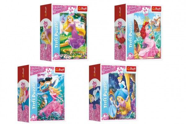 Minipuzzle 54 dílků Dobrodružný svět princezen 9 x 6,5 x 4cm
