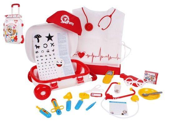 Sada doktor/lékař v plastovém kufříku na kolečkách