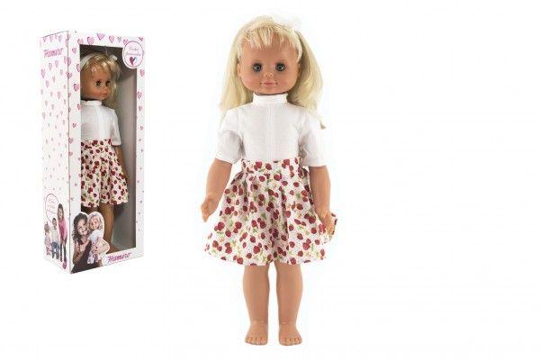 Panenka Hamiro mrkací 60cm, pevné tělo, široká sukně v krabici 24x60x15cm