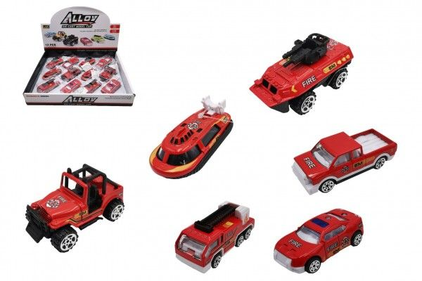 Auto hasiči kov/plast 7cm na volný chod