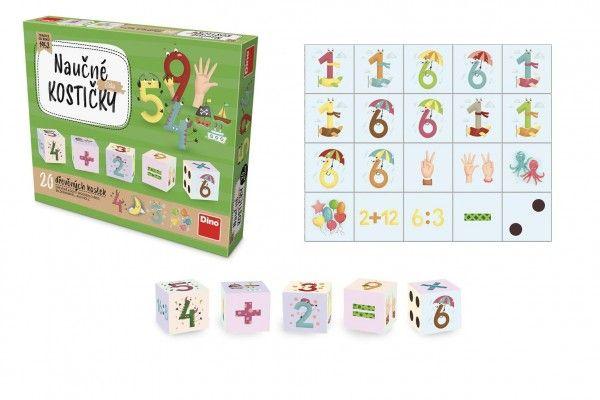 Kostky kubus Čísla 20 ks v krabičce 20 x 16 x 4 cm