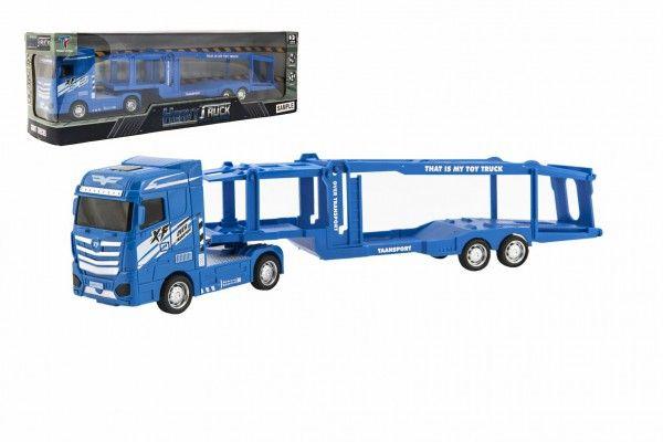 Auto kamion přepravník na setrvačník na baterie se světlem