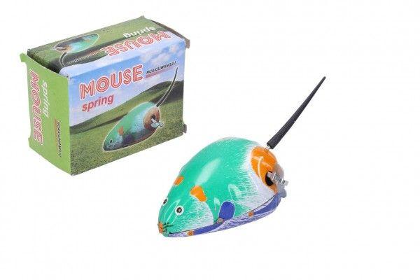 Myš natahovací kovová 7x5 cm v krabičce 5x7x3,5cm