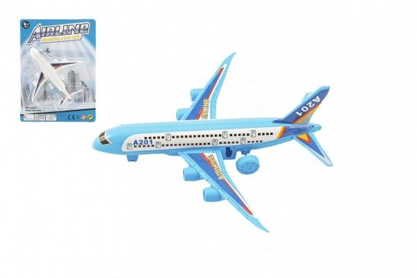 Letadlo plast 14cm volný chod