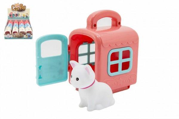 Zvířátko v přepravním boxu plast 3 barvy - 12 ks v boxu