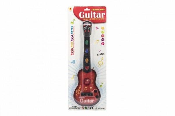 Kytara plast 41 cm na baterie se zvukem se světlem 2 barvy