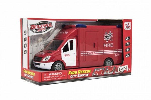 Auto hasiči na setrvačník na baterie se zvukem se světlem