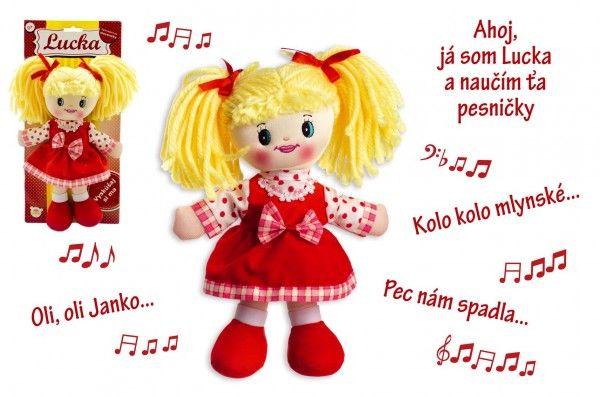 Bábika Lucka handrová  slovenský spievajúci