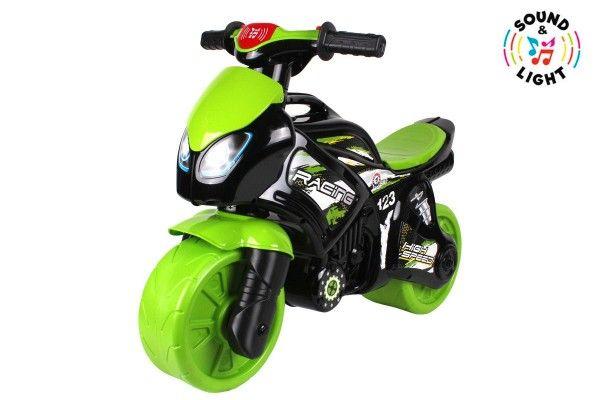 Odrážedlo motorka zeleno-černá