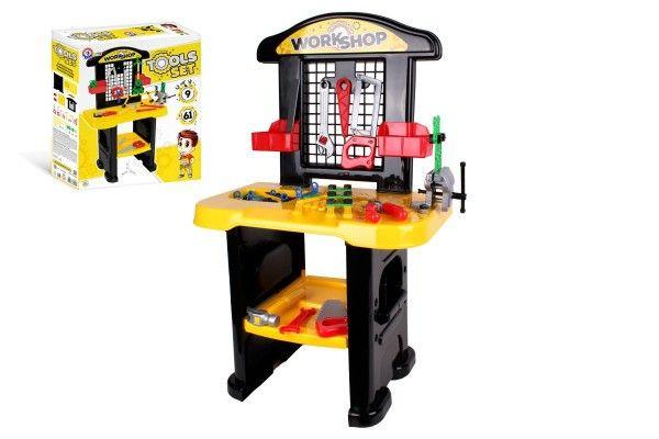 Stůl/Ponk s nářadím plast v krabici 48x57x15cm