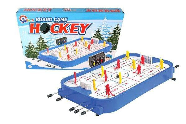 Hokej společenská hra plast/kov v krabici 54x38x7cm
