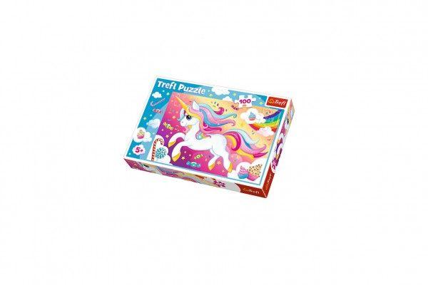 Puzzle Krásný jednorožec 100 dílků 41x27,5cm v krabici 29x20x4cm