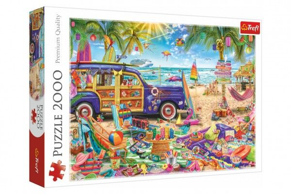 Teddies Puzzle Tropická dovolená, 2000 dílků, 96 x 68 cm