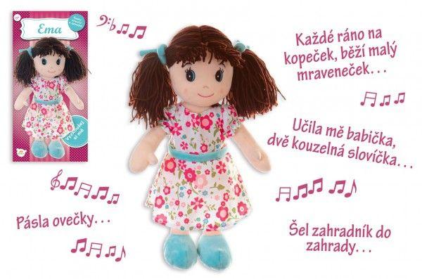 Teddies Panenka Ema hadrová plyš 40 cm česky mluvící a zpívající