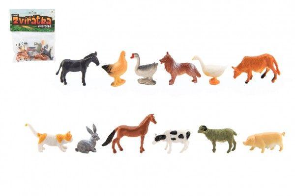 Zvířátka domácí farma - 12 ks