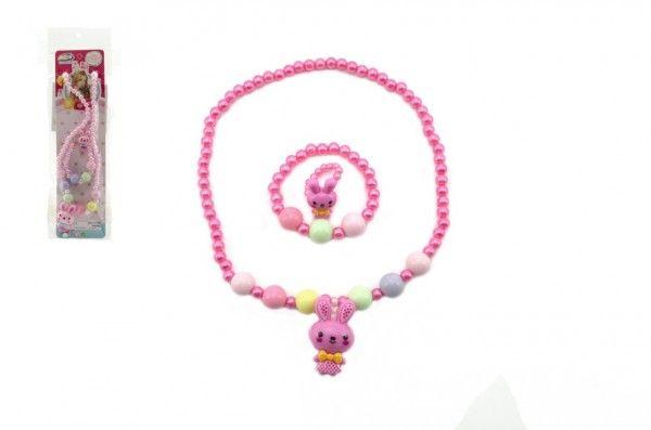 Náhrdelník, náramek a prstýnek korálky perleťové