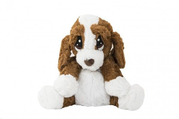 Pes/pejsek sedící nahřívací plyš 23cm v sáčku