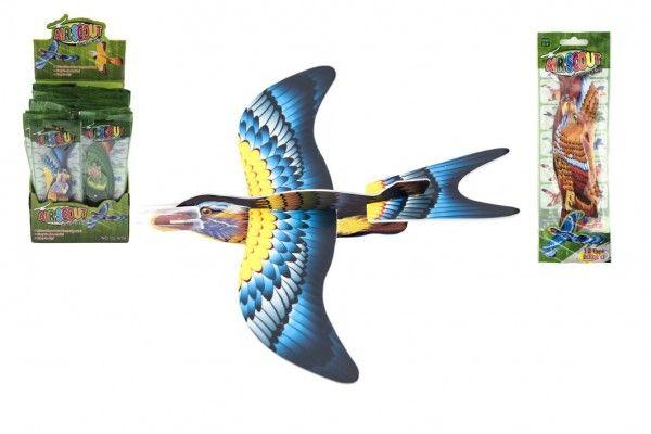 Letadlo házecí skládací pták pěna 18cm