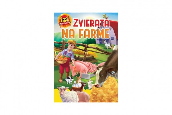 Aktivity Zvieratá na farme 101 s nálepkami SK verzia 21x30cm