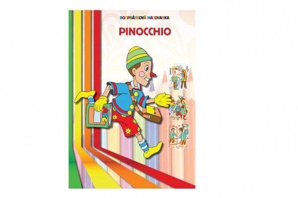 Rozpravková Omaľovanka Pinocchio SK verzia 21x30cm