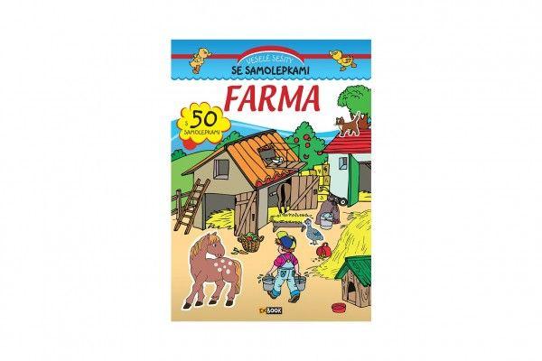 Sešit se samolepkami Farma, CZ verze - 20 x 28 cm