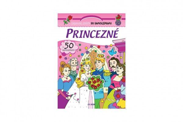 Zošit Princezné so samolepkami SK verzia 20x28cm