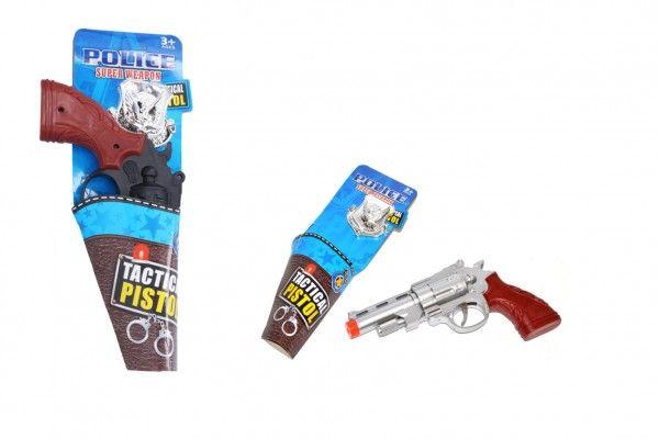 Pistole klapací + policejní odznak, 22 cm