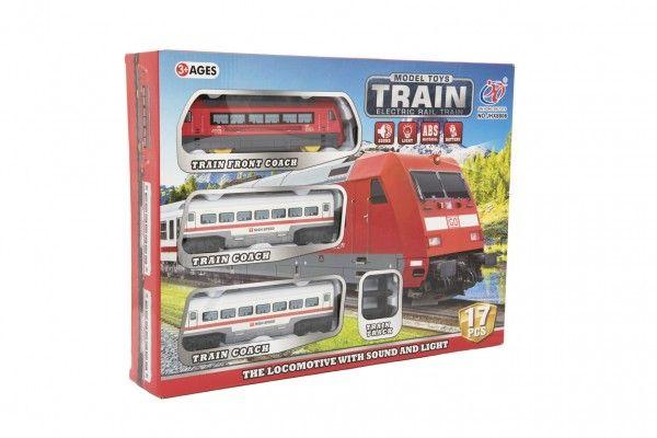 Vlak s kolejemi 17ks plast na baterie se zvukem se světlem