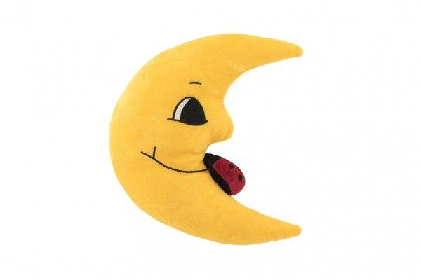 Měsíc plyš 27cm s beruškou