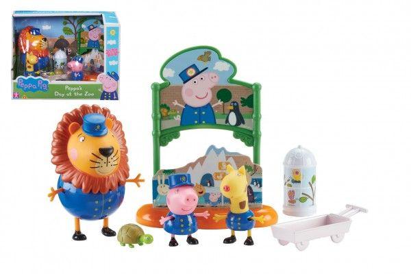 Prasátko Peppa/Peppa Pig v ZOO plast 3 figurky s doplňky v krabici 22x16x12cm