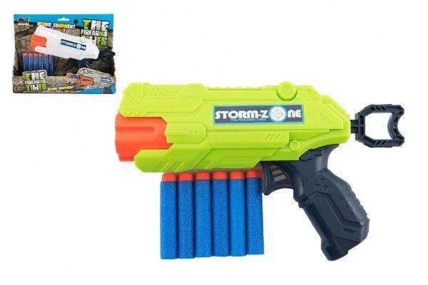 Pistole na pěnové náboje 22cm plast + 6 ks nábojů